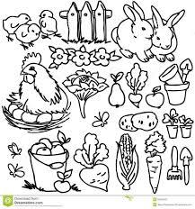 coloring book farm animals stock photos image coloring