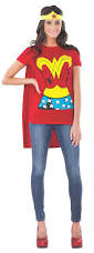 amazon com dc comics wonder woman t shirt with cape and headband