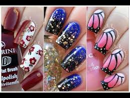 10 easy and beautiful nail art tutorial compilation videos 2017