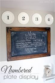diy kitchen decor numbered plate display love grows wild