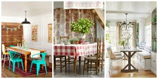 Designing Ideas For Small Spaces 85 Best Dining Room Decorating Ideas Country Dining Room Decor