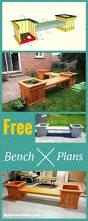 Free Outdoor Furniture Plans by Best 25 Patio Bench Ideas On Pinterest Fire Pit Gazebo Pallet