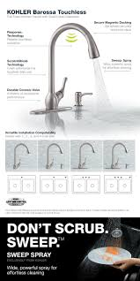 kohler barossa with response touchless technology single handle soap lotion dispenser and optional escutcheon plate included