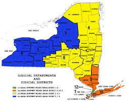 New York State Map by Appellate 4th