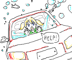 Image result for lady drowning in car
