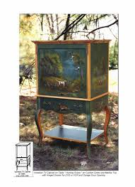 Hand Painted Furniture by Hand Painted Bookcases And Cabinets Pieces Furniture