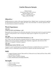 work experience customer service sample resume cashier customer service skills informations