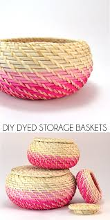 Ikea Wicker Baskets by Diy Dyed Storage Baskets Dream A Little Bigger