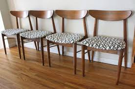 Mid Century Modern Dining Room Tables Mid Century Modern Sets Of Dining Chairs Picked Vintage