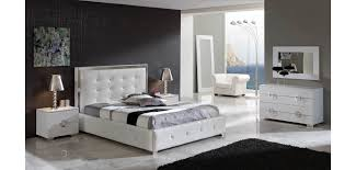Latest White Leather Bedroom Furniture White Leather Bedroom Set - White tufted leather bedroom set