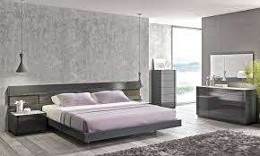 lacquered stylish wood elite platform bed with long panels las