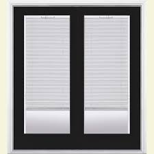 exterior door with blinds between glass masonite 60 in x 80 in ultra white prehung right hand inswing