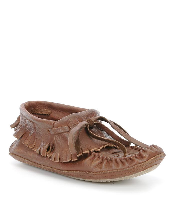 Free People Isadore Leather Moccasin, 38, Brown