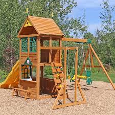 Cedar Playsets Cedar Summit Premium Play Sets