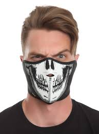 ghost half mask skull glow in the dark neoprene half face mask topic