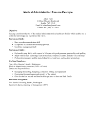 Medical Office Assistant Resume Examples by Medical Office Secretary Resume Free Resume Example And Writing