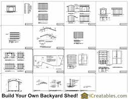 Free Saltbox Wood Shed Plans by 8x12 Firewood Shed Plans Icreatables Com
