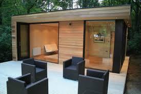 Backyard Office Prefab by In It Studios U0027 Prefab Garden Office Spaces Let You Work From Your