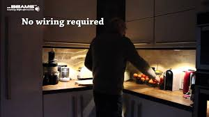 Lights Under Kitchen Cabinets Wireless by Mr Beams Under Cabinet Lighting Youtube