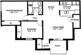 2 Bedroom 1 Bath Floor Plans Floor Plans Village Green East Apartments Munz Apartments
