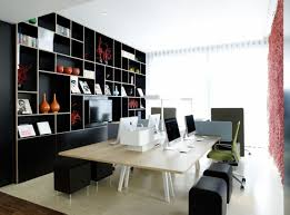 office lovely custom home office designs with wooden opened shelf