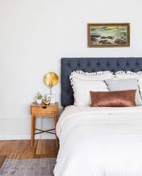 neutral bed styling our staged guest suite emily henderson