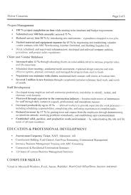 Management Construction Manager Resume Example Resume Resource