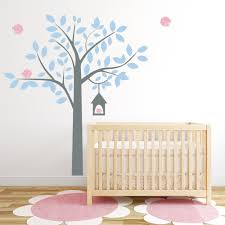 Tree Decal For Nursery Wall by Four Bird Tree Wall Decal
