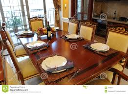 Dinner Table The Dinner Table Setting Stock Image Image 7579291