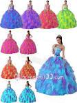 rainbow quinceanera dress