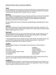 narrative essays examples for high school  personal narrative