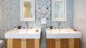 grey liberty recycled glass bathroom mosaic backsplash by granite