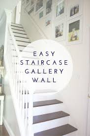 How To Make A Gallery Wall by Hudson And Company Staircase Gallery
