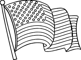 4th of july wave flag coloring page wecoloringpage