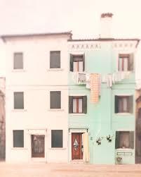 pastel wall art burano italy photography mint green home decor