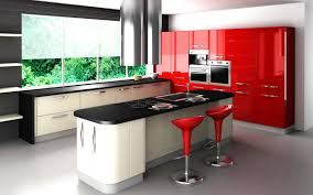 Red And Black Kitchen Ideas Red And Black Kitchen Wall Decor Square Stainless Steel Build