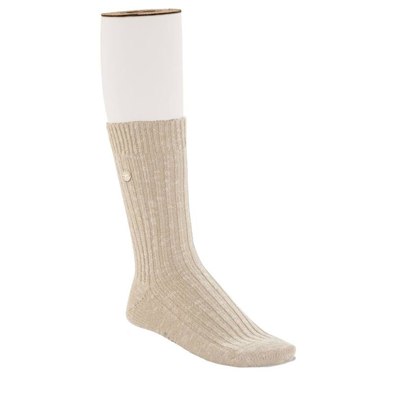 Birkenstock Cotton Slub Socks Beige White