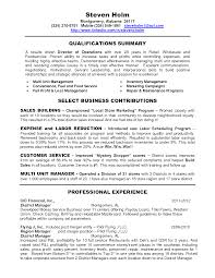 Retail Professional Summary Retail Area Manager Resume Resume For Your Job Application
