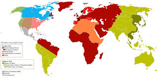 Color Coded Map Of Usa by Map Of The World As Depicted In