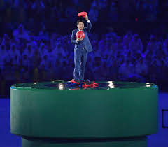 Japanese Prime Minister Abe wows Rio finale as Super Mario   Daily     Japanese Prime Minister Shinzo Abe poses just after removing the costume of the Nintendo game character