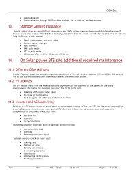 Sample Resume For Customer Service Representative Telecommunications by O U0026m Doc For Telecom Sites