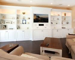 Tremendous Family Room Design Also Elegant White Built In Wall - Family room wall units