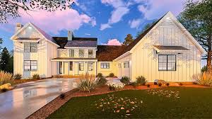 five bedroom modern farmhouse with in law suite 62666dj
