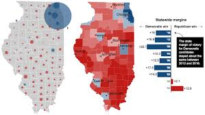 Chicago Suburbs Map Illinois Presidential Vote Results By County Chicago Tribune
