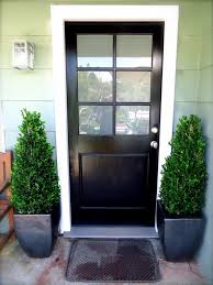 Kerala Style Home Front Door Design by Stylish Front Door Design With Black Colors Also Six Glass Lites