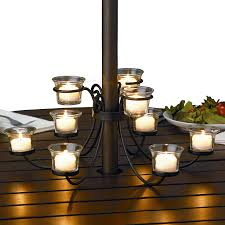 Tablecloth For Umbrella Patio Table by Nine Candle Candelabra For Outdoor Tables Patio Table