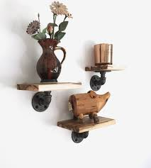 grist maple wood wall shelves set of 3 features reclaimed wood