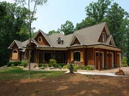 classic mountain house plan with brick wall decorplus roof tile