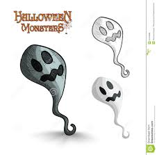 halloween monsters scary cartoon ghost eps10 file royalty free