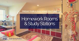 Blog   Sandy Spring Builders Blog   Sandy Spring Builders Friday Fabulous Home Feature  Homework Rooms and Study Stations  middot  Custom Homes